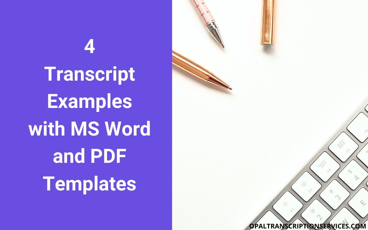 Transcript Example (with Microsoft Word and PDF Templates)